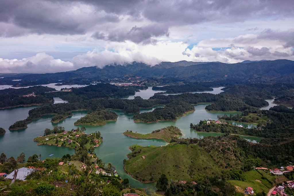 The view from Piedra del Peñol, Colombia
