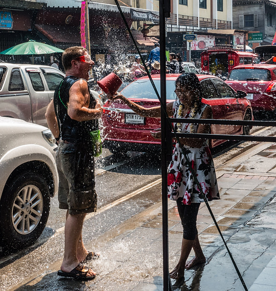 Chiang Mai, Thailand, during Songkran 2018