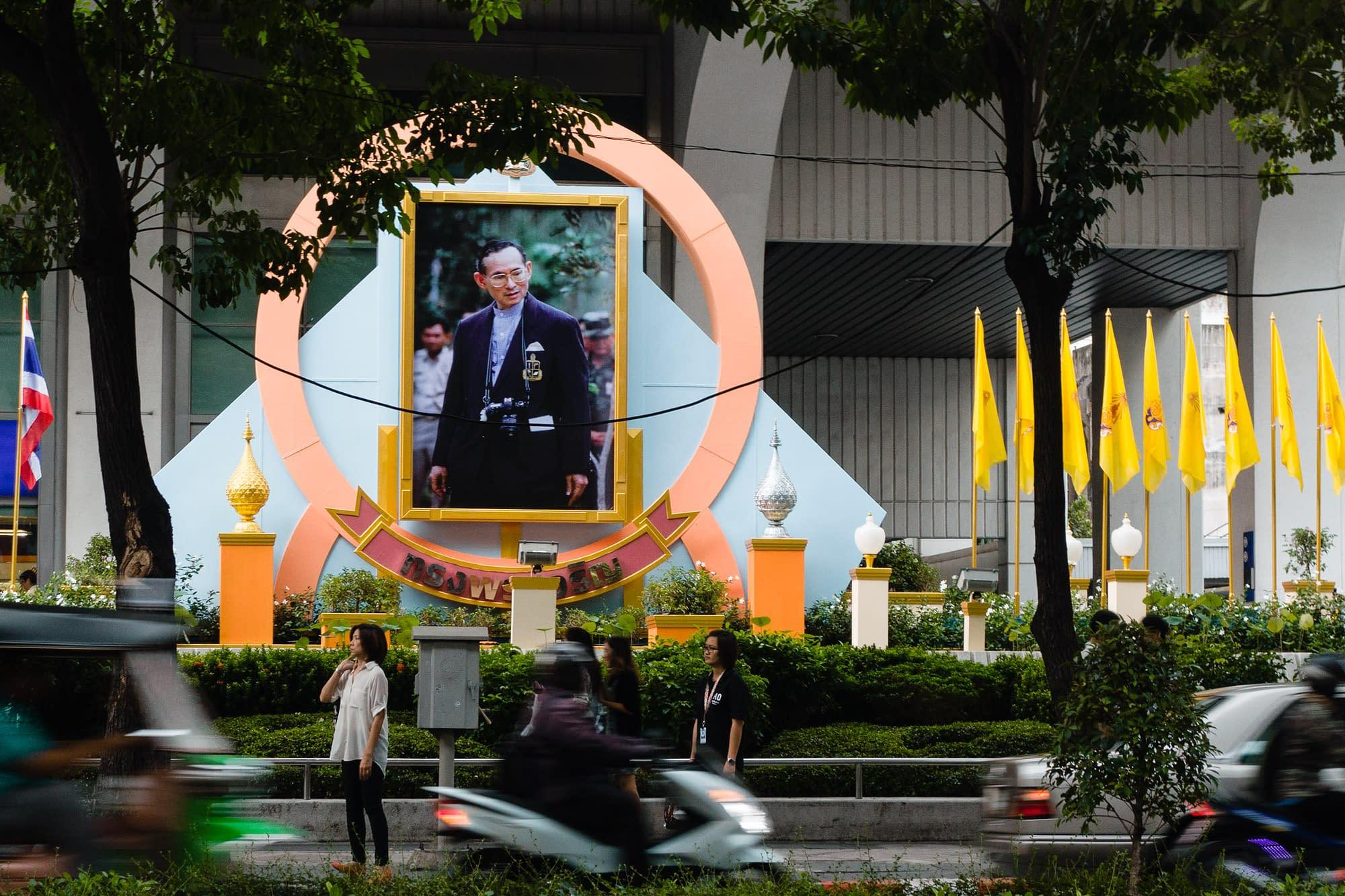 Bangkok, Thailand: Thai people love their king!